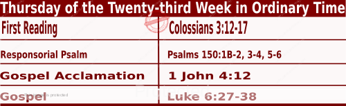 Bible quotations in Mass Readings for September 9 2021, Thursday of the Twenty-third Week in Ordinary Time