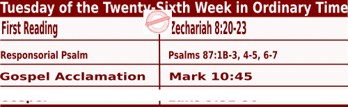 Bible quotations in Mass Readings for September 28 2021