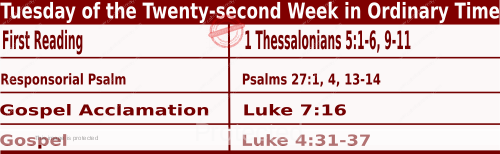 Bible quotations for Mass Readings for August 31 2021, Tuesday of the Twenty-second Week in Ordinary Time