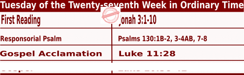Bible quotations in Mass Readings for October 5 2021