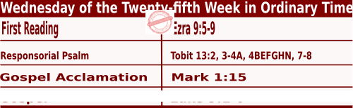Bible quotations in Mass Readings for September 22 2021