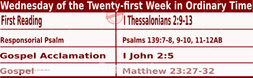Bible quotations in Mass Readings for August 25 2021, Wednesday of the Twenty-first Week in Ordinary Time