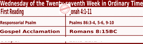 Bible quotations in Mass Readings for October 6 2021
