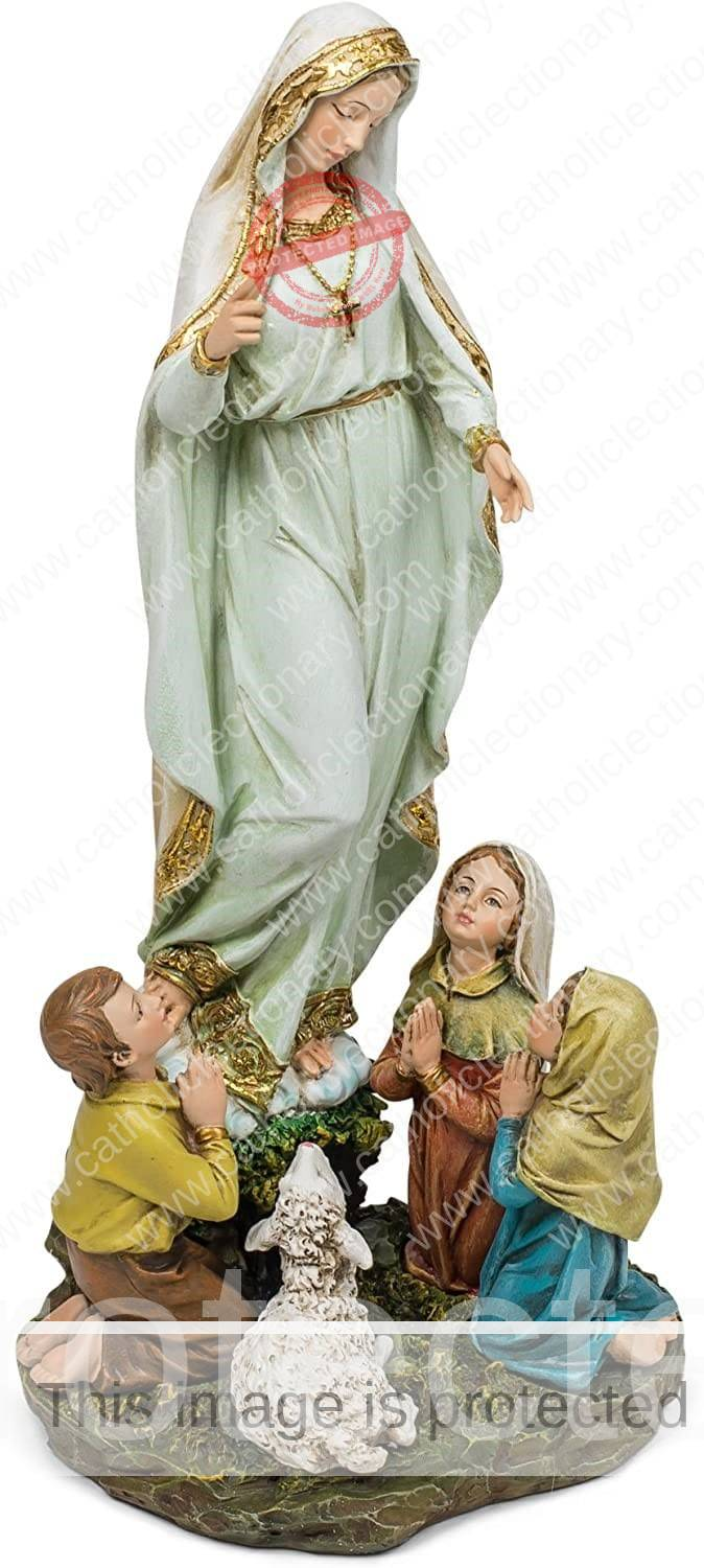 Our lady of Fatima and three children