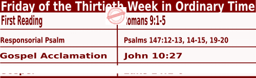 Bible quotations in Mass Readings for October 29 2021, Friday of the Thirtieth Week in Ordinary Time - Catholic Readings for October 29 2021