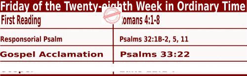 Bible quotations in Mass Readings for October 15 2021, Friday of the Twenty-eighth Week in Ordinary Time - Catholic Readings for October 15 2021