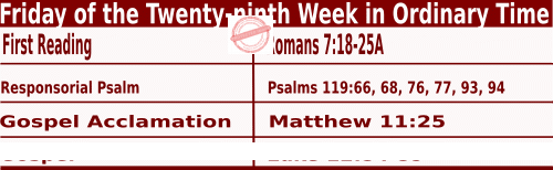 Bible quotations in Mass Readings for October 22 2021, Friday of the Twenty-ninth Week in Ordinary Time - Catholic Readings for October 22 2021