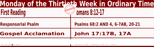 Bible quotations in Mass Readings for October 25 2021, Monday of the Thirtieth Week in Ordinary Time - Catholic Readings for October 25 2021