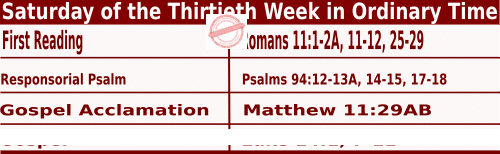 Bible quotations in Mass Readings for October 30 2021, Saturday of the Thirtieth Week in Ordinary Time - Catholic Readings for October 30 2021