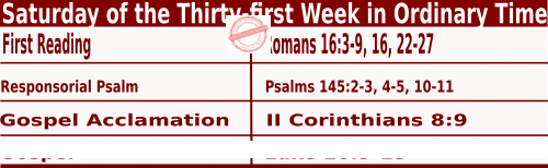 Bible quotations in Mass Readings for November 6 2021, Saturday of the Thirty-first Week in Ordinary Time - Catholic Readings for November 6 2021