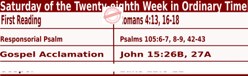 Bible quotation in Mass Readings for October 16 2021, Saturday of the Twenty-eighth Week in Ordinary Time - Catholic Readings for October 16 2021