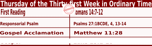 Bible quotations in Mass Readings for November 4 2021, Thursday of the Thirty-first Week in Ordinary Time - Catholic Readings for November 4 2021