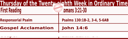 Bible quotations in Mass Readings for October 14 2021, Thursday of the Twenty-eighth Week in Ordinary Time - Catholic Readings for October 14 2021