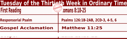 Bible quotations in Mass Readings for October 26 2021, Tuesday of the Thirtieth Week in Ordinary Time - Catholic Readings for October 26 2021