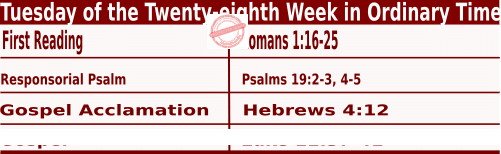 Bible quotations in Mass readings for October 12 2021