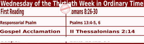 Bible quotation in Mass Readings for October 27 2021, Wednesday of the Thirtieth Week in Ordinary Time - Catholic Readings for October 27 2021