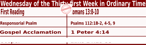 Bible quotations in Mass Readings for November 3 2021, Wednesday of the Thirty-first Week in Ordinary Time - Catholic Readings for November 3 2021